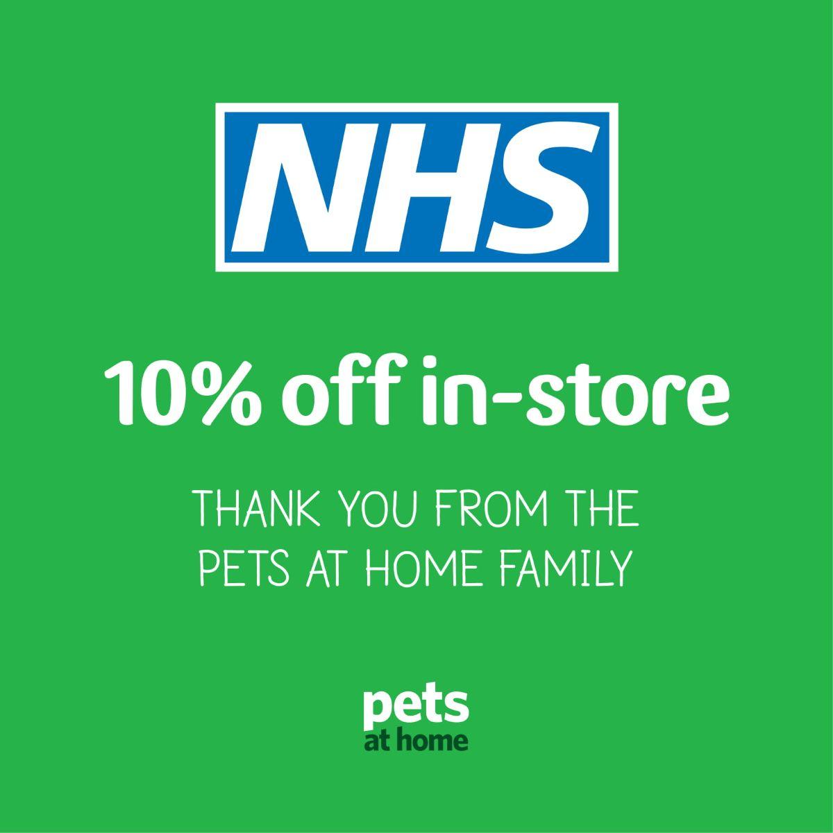 pets at home nhs discount